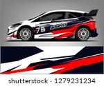 racing car wrap design.... | Shutterstock .eps vector #1279231234