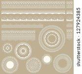 vector lacy vintage design... | Shutterstock .eps vector #127924385