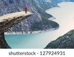 trolltunga in norway | Shutterstock . vector #127924931