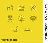 service icons set with wallet ...