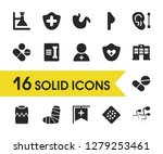 medical icons set with gypsum ...