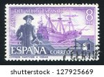 spain   circa 1975  stamp... | Shutterstock . vector #127925669