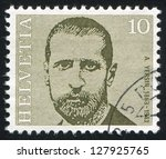 Small photo of SWITZERLAND - CIRCA 1971: stamp printed by Switzerland, shows Alexandre Yersin, circa 1971