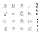 treatment line icon set. doctor ...   Shutterstock .eps vector #1279258807