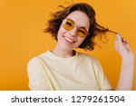 close up portrait of carefree... | Shutterstock . vector #1279261504