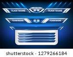 scoreboard broadcast and lower... | Shutterstock .eps vector #1279266184