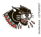 panther head illustration. | Shutterstock .eps vector #1279269337