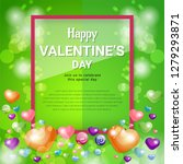 happy valentines day concept... | Shutterstock .eps vector #1279293871
