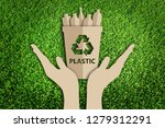 paper art style of reuse ... | Shutterstock . vector #1279312291