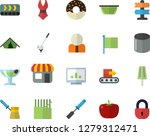 color flat icon set colander... | Shutterstock .eps vector #1279312471