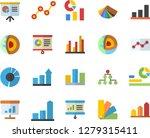color flat icon set color...   Shutterstock .eps vector #1279315411