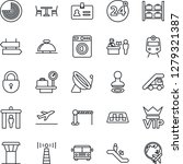 thin line icon set   airport... | Shutterstock .eps vector #1279321387