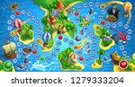 treasure island board game. map ... | Shutterstock .eps vector #1279333204