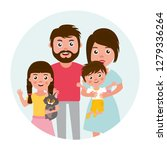 big happy family portrait. set... | Shutterstock . vector #1279336264