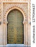 door at the mausoleum of... | Shutterstock . vector #1279344637