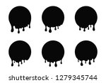 dripping paint  liquid stains.... | Shutterstock .eps vector #1279345744