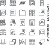 thin line icon set   office... | Shutterstock .eps vector #1279346257