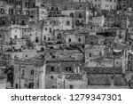 matera is an atmospheric cave... | Shutterstock . vector #1279347301