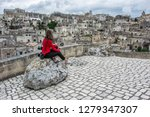 matera is an atmospheric cave... | Shutterstock . vector #1279347307
