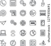 thin line icon set   phone...   Shutterstock .eps vector #1279350691