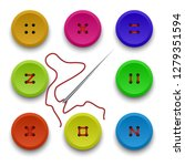 vector collection of buttons...   Shutterstock .eps vector #1279351594