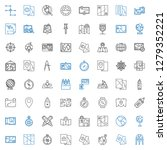 cartography icons set.... | Shutterstock .eps vector #1279352221