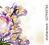 floral vector | Shutterstock .eps vector #127935761