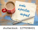 make a positive impact  ... | Shutterstock . vector #1279358431