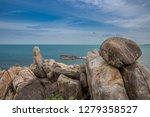 hin ta and hin yai rocks and... | Shutterstock . vector #1279358527