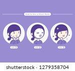 mask steps illustration. steps... | Shutterstock .eps vector #1279358704