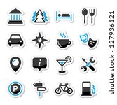 travel tourism icons set  ... | Shutterstock .eps vector #127936121