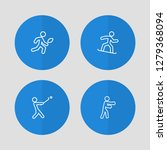 set of 4 athletic icons line... | Shutterstock . vector #1279368094