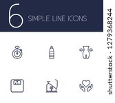 set of 6 training icons line... | Shutterstock .eps vector #1279368244
