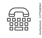 isolated phone icon line symbol ... | Shutterstock . vector #1279368364