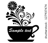 tea with lemon isolated on... | Shutterstock . vector #127937474
