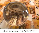 crystal ball and euro banknotes.... | Shutterstock . vector #1279378951