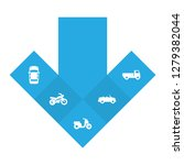 set of 5 transport icons set.... | Shutterstock . vector #1279382044