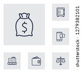 set of 6 finance icons line... | Shutterstock . vector #1279382101