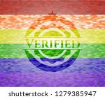 verified lgbt colors emblem  | Shutterstock .eps vector #1279385947