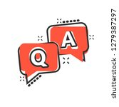 question and answer icon in... | Shutterstock .eps vector #1279387297