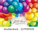 vector of balloons in various colors