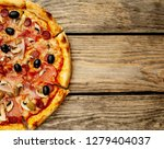 tasty pizza on wooden... | Shutterstock . vector #1279404037