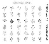 vector set of handdrawn doodle... | Shutterstock .eps vector #1279410817