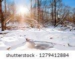 white winter wonderland river... | Shutterstock . vector #1279412884