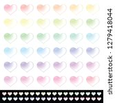 colorful soft pastel hearts in... | Shutterstock .eps vector #1279418044