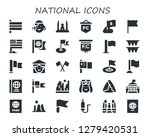 national icon set. 30 filled... | Shutterstock .eps vector #1279420531
