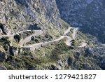 serpentin road in mallorca   Shutterstock . vector #1279421827