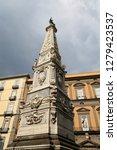 san domenico obelisk in naples... | Shutterstock . vector #1279423537