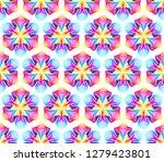 fantastic neon flower seamless...   Shutterstock .eps vector #1279423801