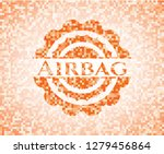 airbag orange tile background... | Shutterstock .eps vector #1279456864
